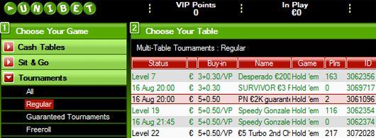 Série de Torneios €2,000 Garantidos na Unibet Poker 101