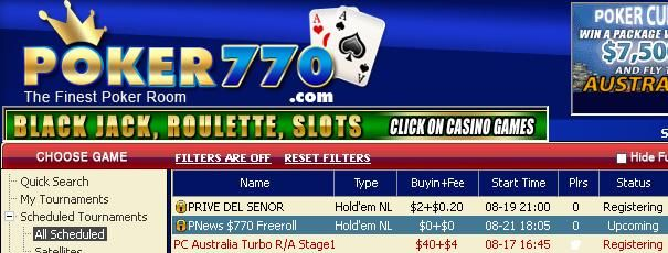 Weekly $770 Freerolls open to ALL!