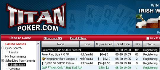 Hoje às 19:00, PokerNews Cup ,000 Freeroll na Titan Poker 101