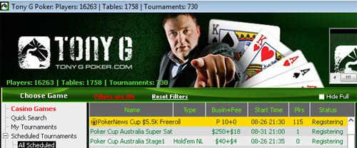 !Hoy a las 22:30, Freeroll de 5.500$ para la PokerNews Cup en Tony G Poker! 101