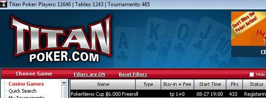 Hoje às 19:00, PokerNews Cup ,000 Freeroll na Titan Poker! 101