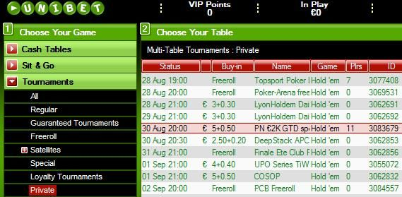 Cash and a package to the 2009 Unibet Open Prague!