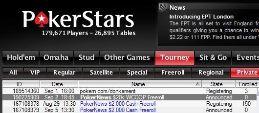 Κ Freeroll του PokerStars για το WCOOP 101