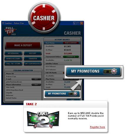 em Dinheiro e Pontos a Dobrar no Take 2 da Full Tilt Poker! 101