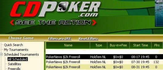 Αποκλειστικά Freerolls γίνονται στα William Hill και CD Poker! 102