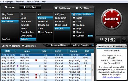 Não Perca Hoje 2 Freerolls Para a PokerNews Cup Austrália 102