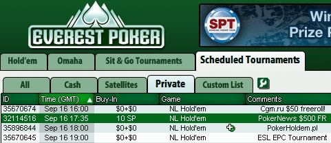 Exclusive $500 Freerolls at Everest Poker
