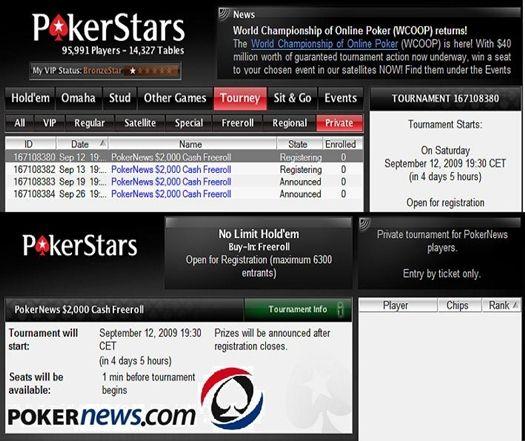 PokerStarsis sel nädalavahetusel koguni kaks 00 cash freerolli! 101