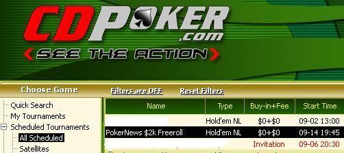 William Hill & CD Poker9月份的2000美圆免费比赛 102