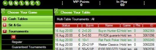2.000 € Garantizados en Unibet Poker - Una serie de torneos abierto a TODOS 101