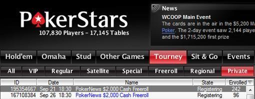 Hoy a las 19:30, un nuevo Freeroll de 2.000 dólares en PokerStars 101