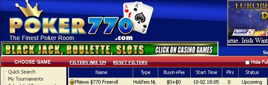 Hoje às 17:05 Torneio Semana 0 Cash Freeroll na Poker770 101