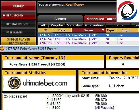 1,000 CASH + billet til $200k garanteret turnering hos UltimateBet