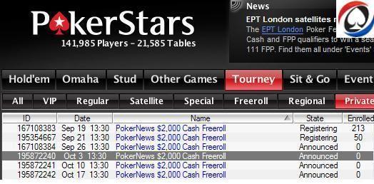 Περισσότερα ,000 Cash Freerolls στο PokerStars για τους... 101