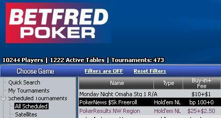 ¡5.000$ en el freeroll de Betfred Poker, exclusivo para PokerNews! 101