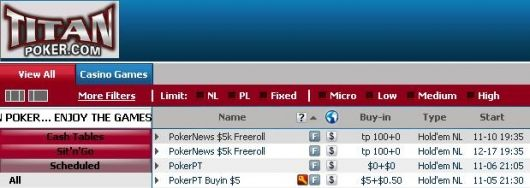 ,000 Cash Freeroll Series na Titan Poker 101