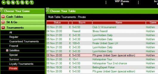 Võida €2.750 pakett Unibet Openile 101