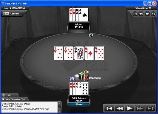 Antonius võitis online-pokkeri ajaloo suurima panga 102