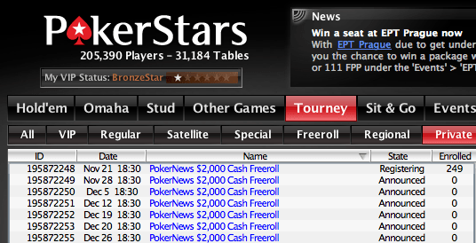 ,000 Cash Freerolls Exclusivos para Jogadores PokerNews 101