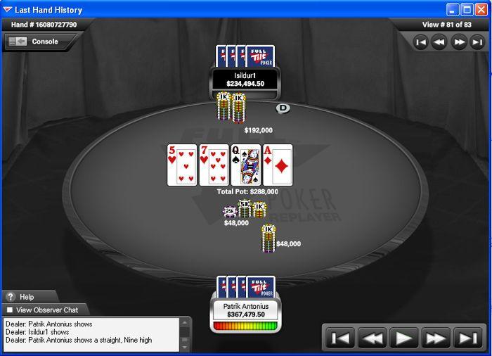 Patrik Antonius vinner online poker historiens største pott 101