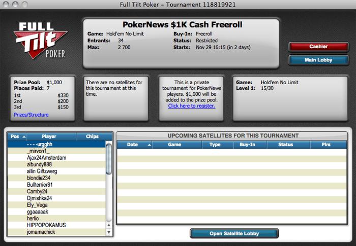 Estão de volta os ,000 Freerolls Exclusivos na FullTilt Poker 101
