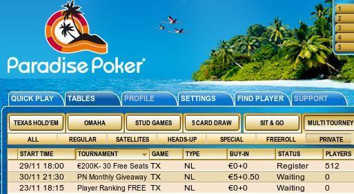Exclusivo PokerNews - Ganhe TV's LCD, iPod's ou dinheiro na Paradise Poker