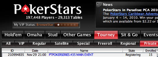 PT Poker Series – Etapa Final #35 No Limit Hold'em 101