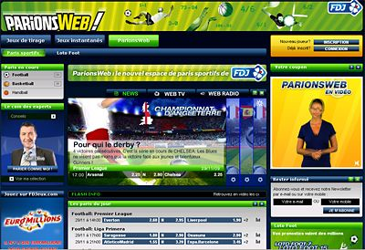 """Française des jeux -  """"ParionsWeb"""""""
