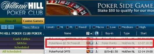 $2,500 Cash Freerolls Eksklusivt for PokerNews
