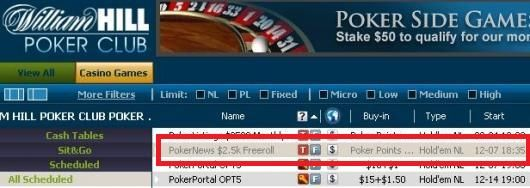 $2,500 Cash Freerolls Exclusive to PokerNews