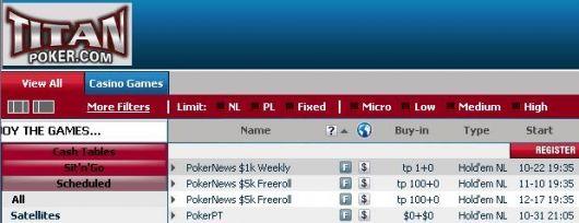 Mais um Freeroll Semanal de K no Titan Poker! 101