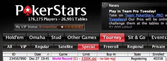 A PokerStars Quer Bater Outro Recorde 101