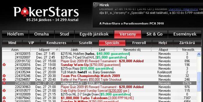 """Te se hagyd ki a holnap esti """"világrekord"""" pókerpartit! 101"""