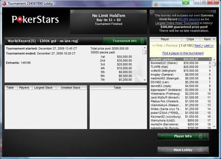 PokerStars gerina savo pačių pasaulio rekordą 101