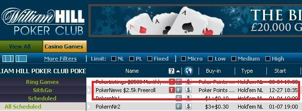 $2.500 Freerolls kun for PokerNews spillere