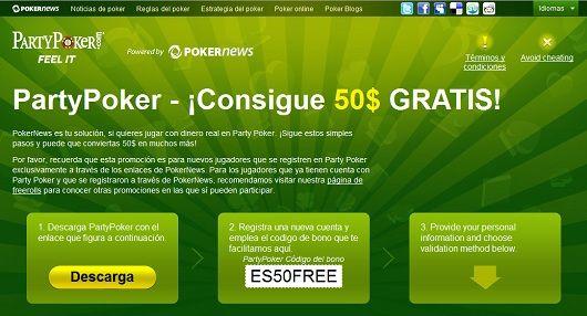 ¡PokerNews comienza el año con 9.000$ en Freerolls de PartyPoker! 101