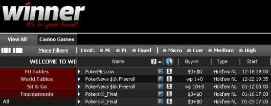 Freerolle PokerNews w lobby Winner Poker