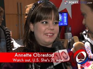 Annette, que acaba de cumplir 21 años, y ya puede jugar en EE.UU.