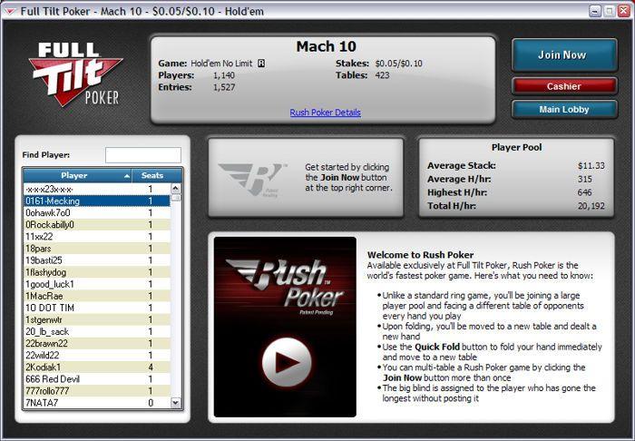 "Full Tilt Poker представя ""Rush Poker"" – най-бързата покер... 102"