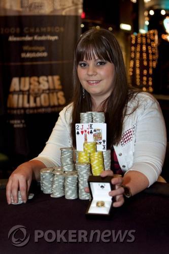 Първата жена с титла от Aussie Millions