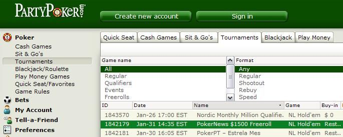 More ,500 Cash Freerolls From PartyPoker 101