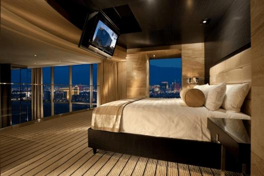 """Una habitación del """"M Resort"""""""