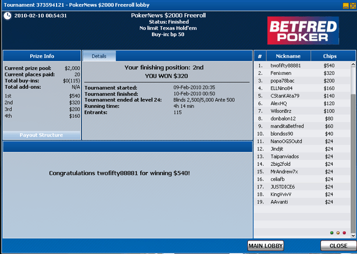 Portugueses Facturam na Betfred Poker 102