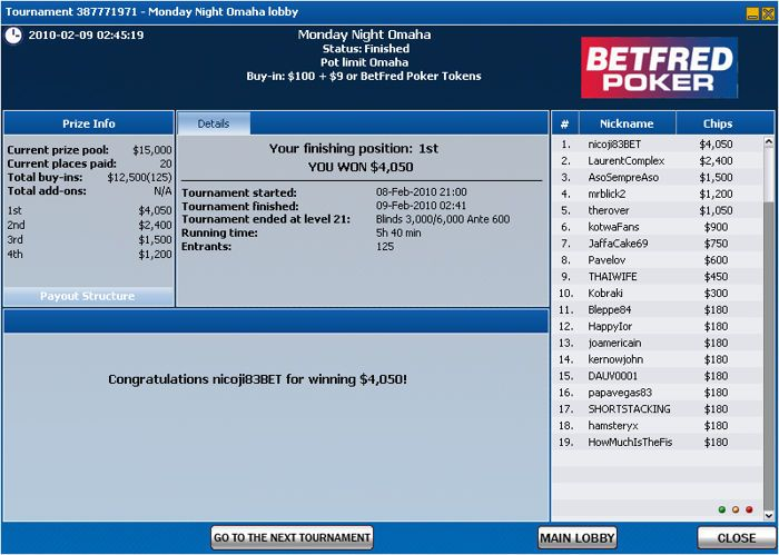 Portugueses Facturam na Betfred Poker 101