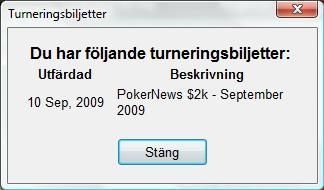 PokerStars turneringsbiljett - PokerNews $2000 freeroll