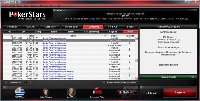 PokerStars & PokerNews liga (Klikk for større bilde)