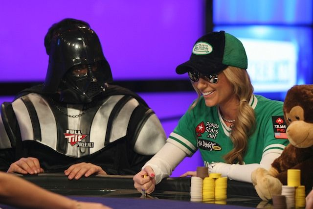 Darth Vader intimidating Vanessa Rousso