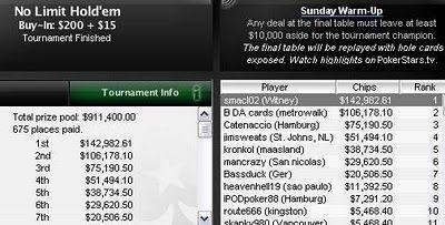 Alan Lake - Interview with Pokerstars Sunday Warm Up Winner Alan Lake 102