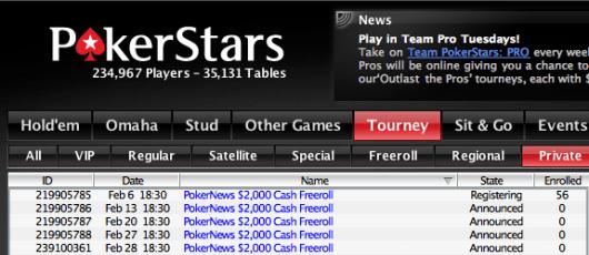 ,000 Cash Freerolls Exclusivos para Jogadores PokerNews na PokerStars 101