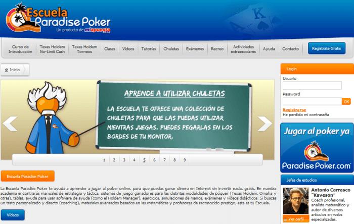 Escuela Paradise Poker: únete a los mejores para mejorar y ganar 101